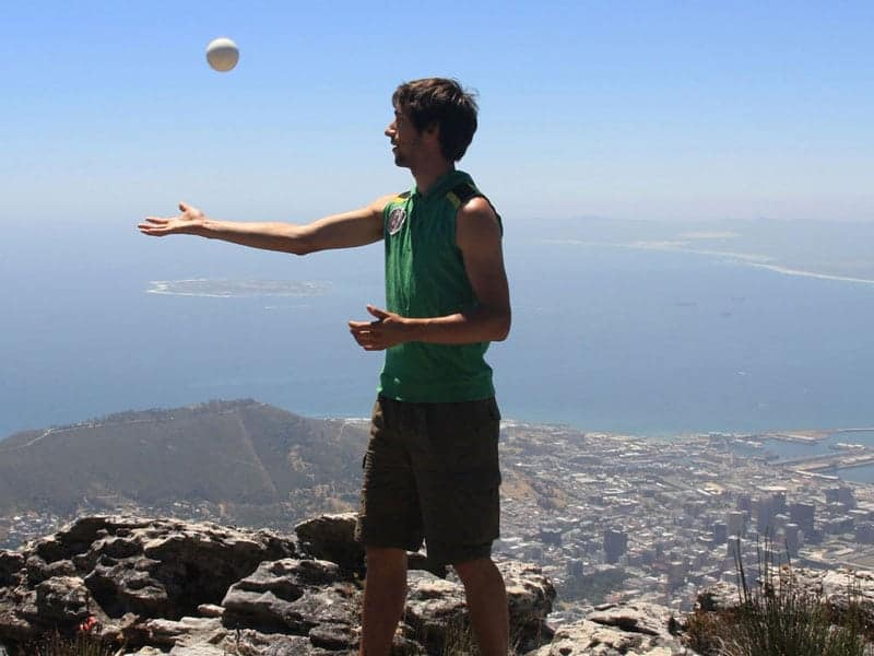 Jonglieren auf dem Tafelberg